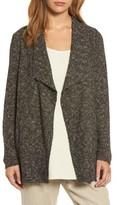 Eileen Fisher Women's Melange Drape Front Cardigan