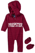 Andy & Evan Maroon Prepster Romper & Booties Set (Baby Boys)