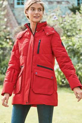 Next Womens Red Wadded Parka - Red