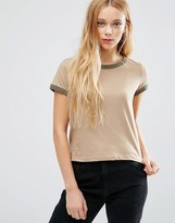 Brave Soul T-Shirt With Contrast Trim