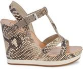 Dolce Vita Natiah Snakeskin-Embossed Leather Wedge Sandals