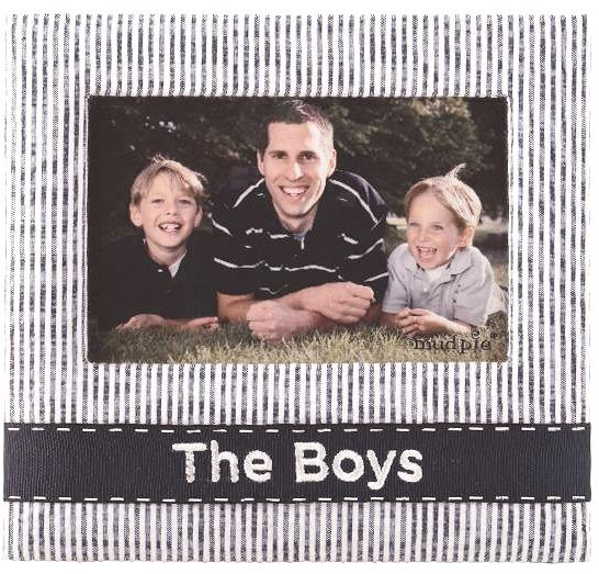 Mud Pie Mudpie The Boys Fabric Frame