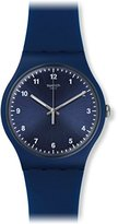 Swatch 'Mono' Quartz Plastic and Silicone Casual Watch, Color:Blue (Model: SUON116)