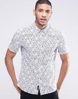 Religion Printed Short Sleeve Shirt
