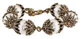 Oscar de la Renta Faux Pearl & Crystal Bead Bracelet