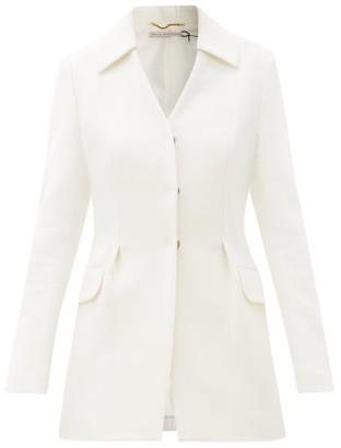 Emilia Wickstead Aiden Single-breasted Wool-crepe Jacket - Ivory