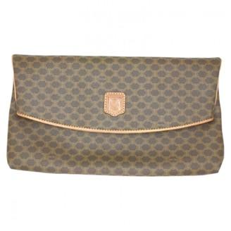 Celine Classic Brown Cloth Clutch bags