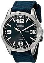 Seiko Men's SNE329 Sport Solar-Powered Stainless Steel Watch with Nylon Band