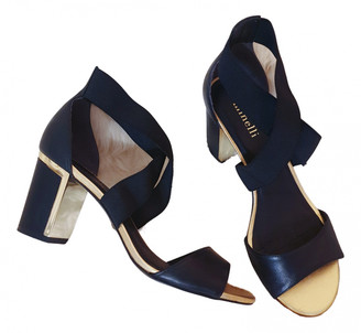 Minelli Black Leather Sandals