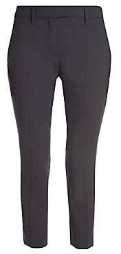 Prada Women's Lana Leggera Skinny Ankle Zip Pants