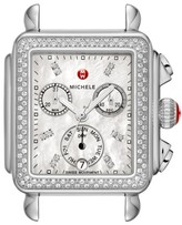Michele Women's Deco Diamond Diamond Dial Watch Head, 33Mm X 35Mm