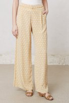 Anthropologie Piped Silk Wide-Legs