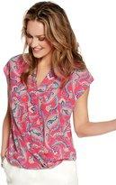 M&Co Paisley print wrap top