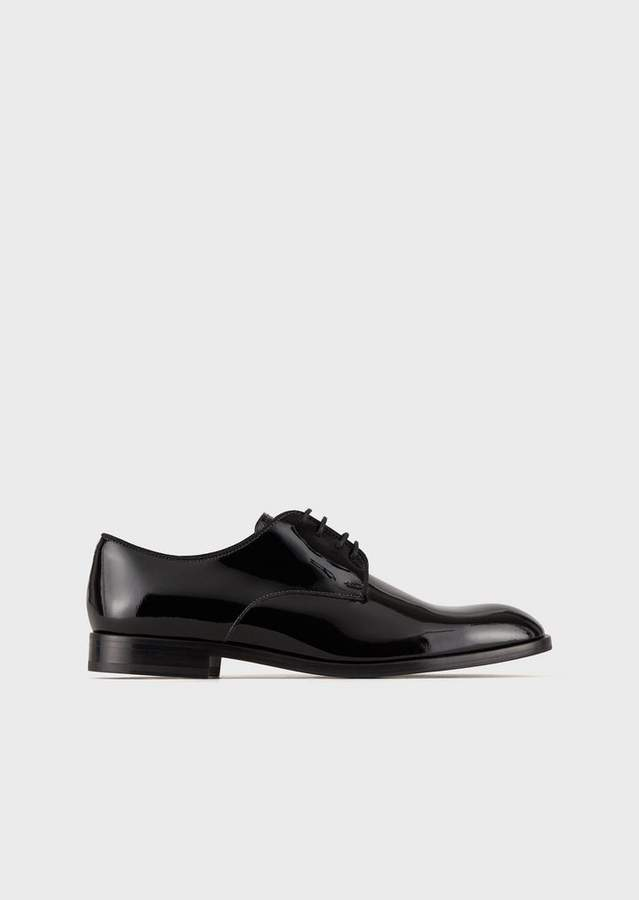 Emporio Armani Derby In Patent Leather