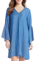 Karen Kane Women's Bell Sleeve Chambray Shift Dress