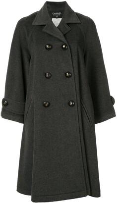 Chanel Pre Owned Long Sleeve Coat Jacket