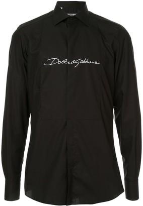 Dolce & Gabbana martini fit tuxedo shirt