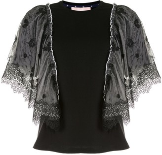 BAPY BY *A BATHING APE® lace panel cotton T-shirt