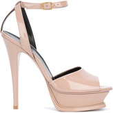 Saint Laurent platform sandals - women - Leather - 36
