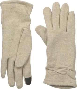 Gloves International Women's Wool Blend Gloves with Cinch Grey Small