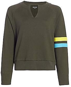 Splits59 Women's Andi Stripe-Sleeve Sweatshirt