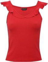 M&Co Frill neckline vest top