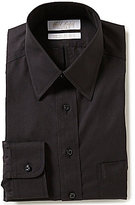 Roundtree & Yorke Gold Label Non-Iron Fitted Classic-Fit Point-Collar Solid Pinpoint Dress Shirt