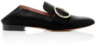 Bally Lottie Leather Slippers