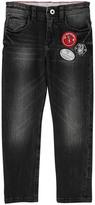 Little Marc Jacobs Leather Jacron Adjustable Waist Slim Jeans