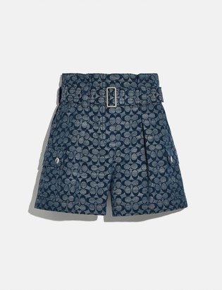Coach Signature Belted Shorts