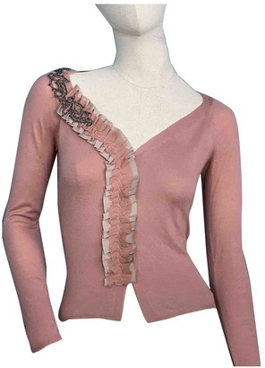 Prada Pink Cashmere Knitwear