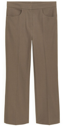 Arket Cropped Stretch Cotton Trousers