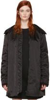 Acne Studios Black Long Lexi Bomber Jacket