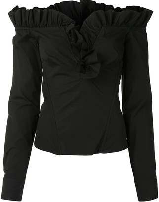 Marques Almeida V-neck ruffle blouse