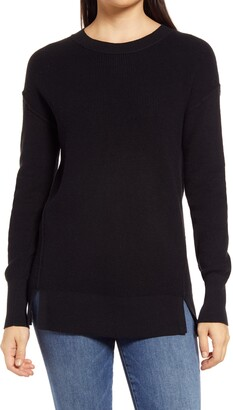 Caslon Crewneck Rib Sweater