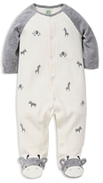 Little Me Boys' Giraffe Velour Footie - Baby