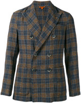 Barena checked double breasted blazer