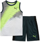 Puma 2-pc. Muscle Tee with Shorts Set - Preschool Boys 4-7
