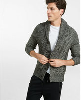 Express novelty cable cardigan