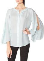 Tamara Mellon Open Wing Silk Blouse