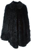 Simone Rocha round collar cape - women - Mohair/Wool/Polyamide/Viscose - 6