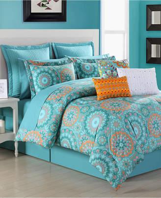 Fiesta Cozumel 4-Piece Reversible Queen Comforter Set Bedding