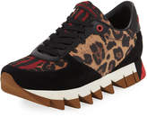 Dolce & Gabbana Leopard-Print Mixed Leather Sneaker