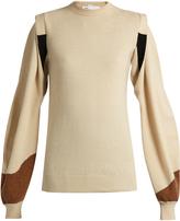 Toga Balloon-sleeved wool sweater