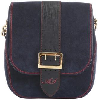 Burberry Navy Suede Handbags