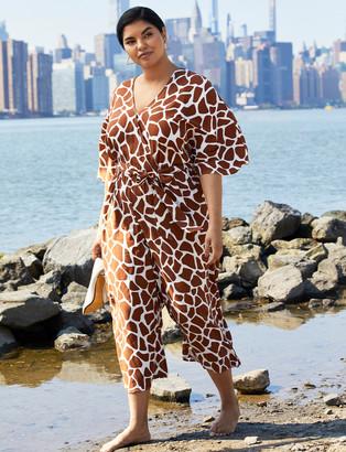 ELOQUII Kimono Sleeve Crop Jumpsuit