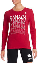 Canadian Olympic Team Collection Womens Long Sleeve Multi Canada T-Shirt