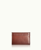 GiGi New York Slim Card Case Brown Vachetta Leather