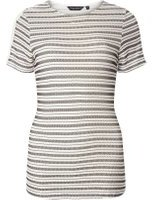 Dorothy Perkins Womens Monochrome Textured Stripe T-Shirt