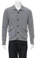 Billy Reid Mock Neck Woven Cardigan